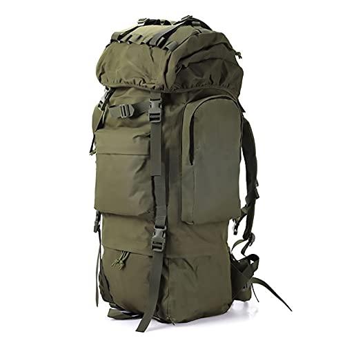 Kabxhueo Sacs et Sac à Dos de randonnée 100L Sac a Dos Tactique Militaire Sac à Dos Randonnee imperméable Grand Sac Survie Complet Camouflage pour Homme Voyage Chasse Trekking Camping Peche,Vert