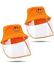 BDWN Sombrero Protector Anti-Saliva para niños Cubierta antivaho Máscara Facial Completa Escudo Transparente Gorra de Pescador A Prueba de Polvo e Impermeable para Actividades al Aire libre-3-8 años