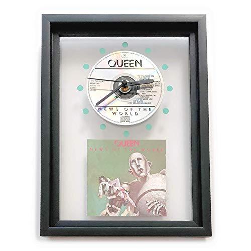 QUEEN - News Of The World: GERAHMTE CD-WANDUHR/Exklusives Design