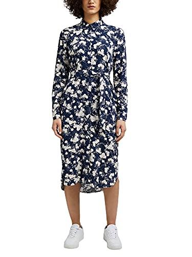 ESPRIT Hemdblusenkleid mit modernem Blumen-Print