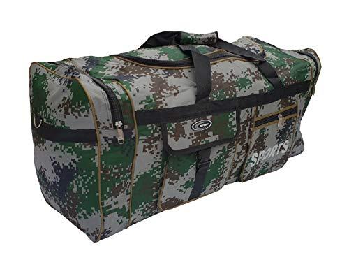 P.I.Sport N.Y. Bolsa de Deporte Grande XL de 110L. Maleta para Deporte, Gimnasio, Viaje, Camping, almacenaje. Impermeable. (Militar 74)
