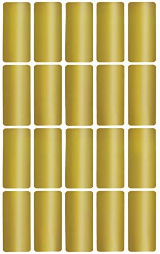 Aufkleber Gold 40 mm x 19 mm rechteckige Sticker - in verschiedenen Farben Größe 4 cm x 1,9 cm viereckige Etiketten 300 Vorteilspack von Royal Green
