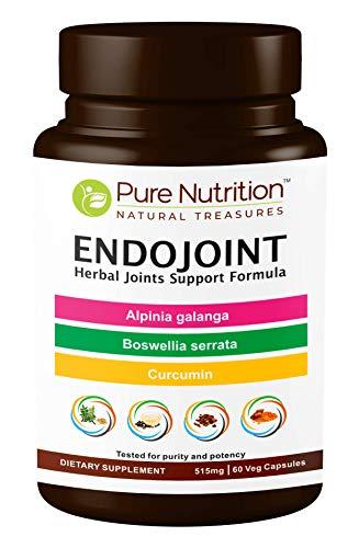 Pure Nutrition EndoJoint - Herbal Joints Support Formula with Curcumin, Alpinia Galanga, Boswellia Serrata, Cissus quadranlaris, Dried Ginger and Piper nigrum Extract. 515mg   60 Veg Caps.