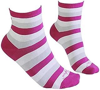 c/ómodos y sin olores Tiglami Audrey Dos tallas disponibles calcetines medianos calcetines elegantes calcetines de algod/ón peinado color blanco y negro Calcetines de mujer