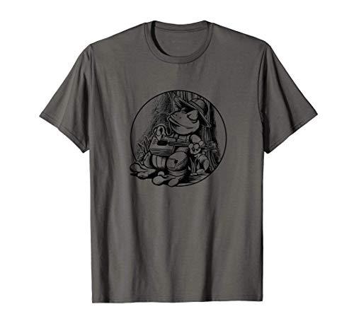 Lustiger Frosch Zigarrenschachtel Gitarre Straßenmusiker T-Shirt