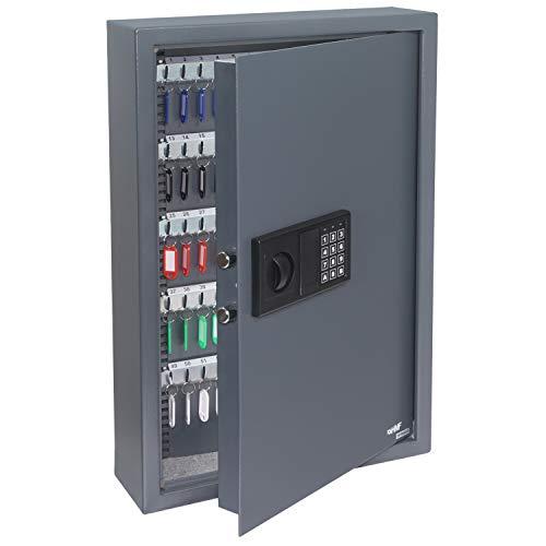 HMF 2100-11 Caja Fuerte para Llaves, 108 Ganchos, Cerradura Electrónica, 66,5 x 43 x 13 cm, Antracita