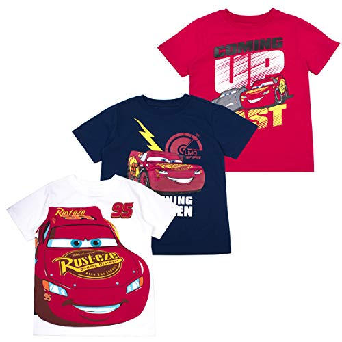 Cars Boys' T-Shirt (Pack of 3) 6 RED