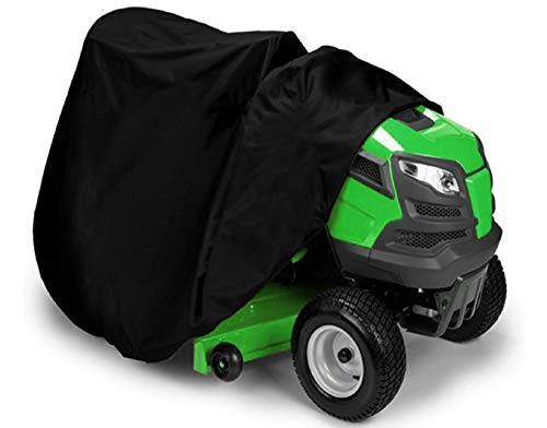 """Sqodok Lawn Mower Cover Waterproof, Tractor Cover for 54"""" Storage Cover 210D Oxford with Drawstring & Storage Bag"""