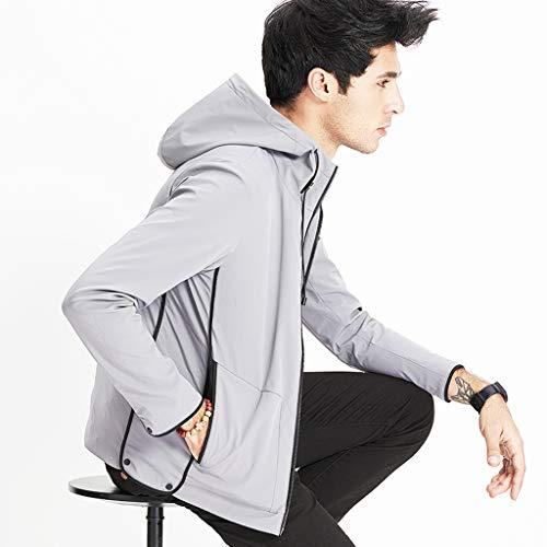 Mantel grijze jas grijze jas voorjaarskleding voor reizen ultradunne jas jeugdjas comfortabele kleding outdoor-sportkleding voorjaarsjack voor mannen