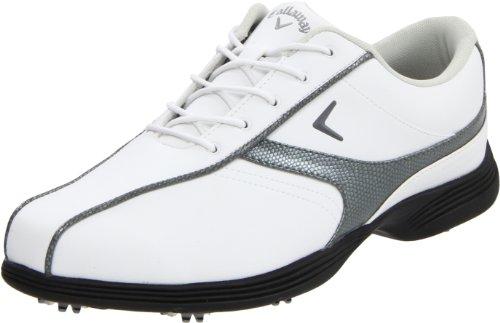 Callaway Women's W426 Savory Golf Shoe,White/Smoke,7.5 M US