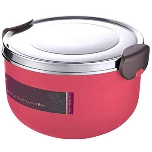 Lekvrije Voedsel Container vacuümgeïsoleerde RVS Lunch Container thermisch geïsoleerd Potje Hot etensketeltje Bowl (Color : Red)