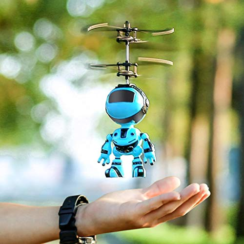 Keptei Kinder im Freien RC Flying Toys Mini-Infrarot-Sensor, RC-Drohne-Hubschrauber-Roboter-Einhorn...