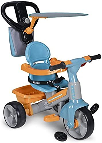 FEBER - Evolution s Dreirad Baby plus Music Musikspielzeug für mädchen von 9 Monaten bis 3 Jahren, blau (Famosa 800009614)