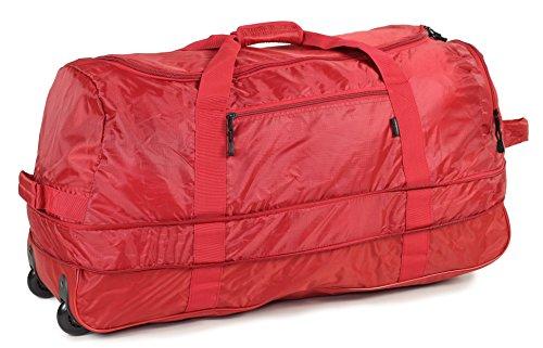 Miembros 80cm tamaño grande plegable con ruedas expansible Cargo Bolsa Rojo rojo -...