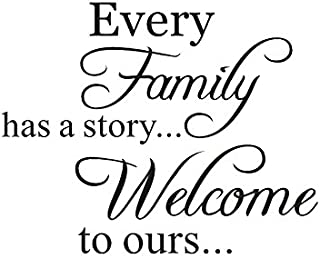 Letter Stickers -Every Family Has a Story Removable Art Vinyl Mural Home Room Decor Wall Stickers