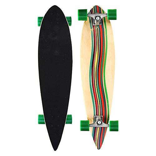 Why Choose Aiyawear Sturdy Outdoor Sports Skateboard Complete Standard Skateboard Durable Skateboard Four Round Professional Longboard Dance Board with Sports Outdoors (Color : 02, Size : 99X22CM)