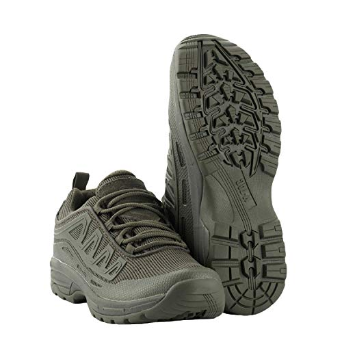 M-Tac Tactical Combat Shoes Men Hiking Police Sneakers for Trail Running (11.5 M US, Olive)