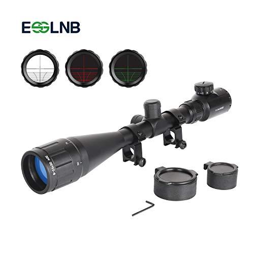 ESSLNB Zielfernrohr 22mm Schiene 6-24x50 Airsoft Zielfernrohr Luftgewehr AOEG Mil Dot Entfernungsmesser für Jagd Softair und Armbrust
