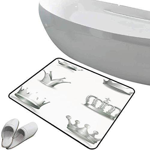 Alfombra de baño antideslizante de felpudo Plata Alfombrilla goma antideslizante Diferentes tipos...