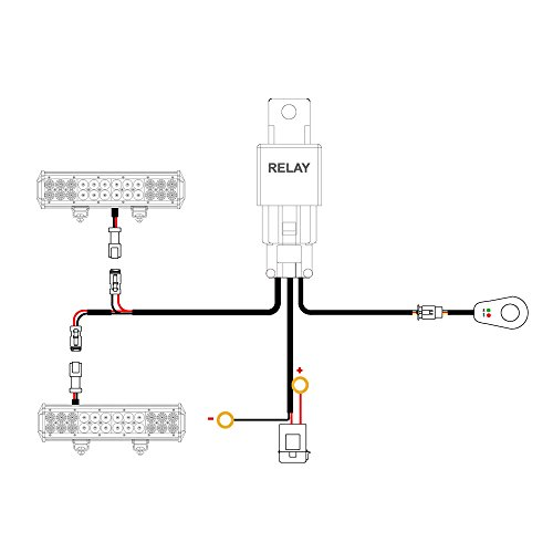 Nilight - 10016W 16AWG DT Connector Wiring Harness Kit LED Light Bar 12V On Off Switch Power Relay Blade Fuse for Off Road Lights LED Work Light-2 Leads,2 Years Warranty