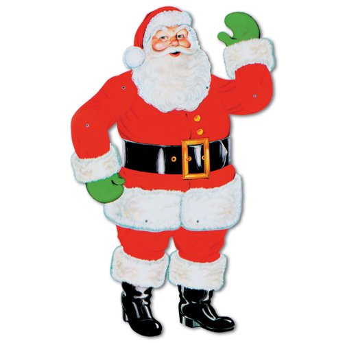 Beistle 1-Pack Jointed Santa, 29-Inch