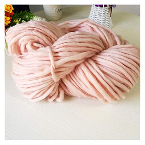 LHSJYG Thick Yarn,Arm Knitting Línea Bufanda de 8 mm. Hilado de suéter Grueso (Color : Pink Powder)