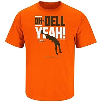 Cleveland Football Fans. Oh-Dell Yeah Orange T-Shirt (Sm-5X) (Short Sleeve, 3XL)