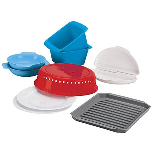 Rapid Brands Deluxe 9-Piece Microwave Cookware & Dinnerware Set |...