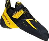 La Sportiva Men's Solution Comp Rock Climbing Shoes, Black/Yellow, 44