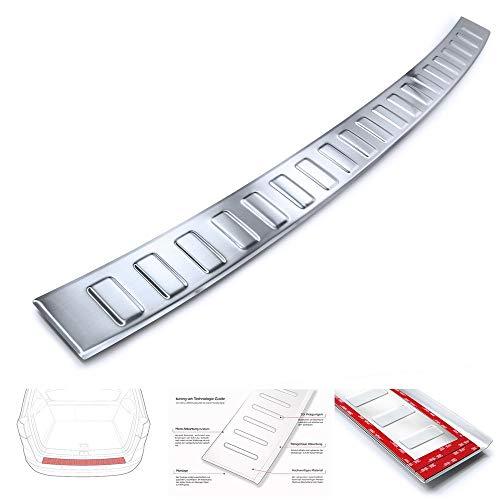 tuning-art L420 Protección para Parachoques Acero INOX para Audi A4 B9 Avant FL, Color:Plata