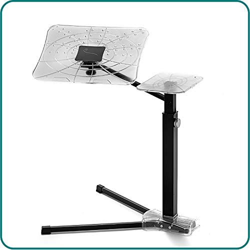 Lounge-Book Crystal Black - Laptop Ergonomic Desk Supports up to 17-18 inch Laptops, Tablet, IPad, Lectern for E-Book. Coolfit Cooling System, Mouse-pad for External Mouse or Smartphone