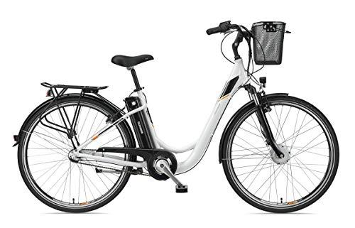 Telefunken E-Bike Damen 28 Zoll Elektrofahrrad - 3-Gang Shimano Nabenschaltung mit Rücktritt, Pedelec Citybike Alu mit Fahrradkorb, Frontmotor 250W /10,4Ah / 36V Sitzrohrakku, RC830 Multitalent