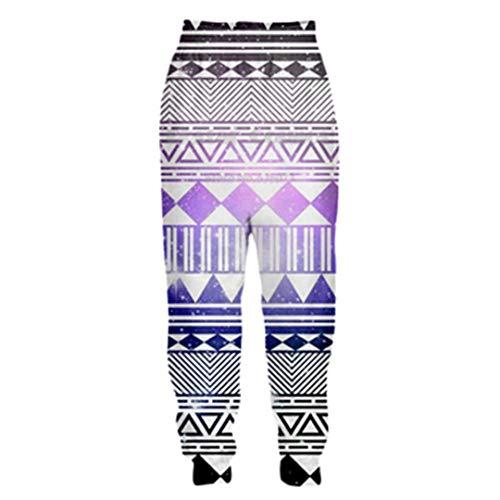 DE-pants-personality Männer 3D Hose Aztec Totem Print Tribal Hintergrund Retro-Stil Casual Joggers Hosen Color as The picture3 4XL