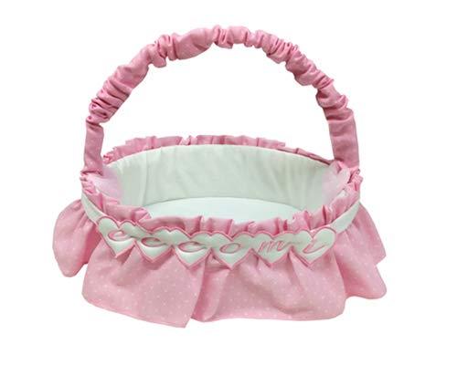 Fiocco Nascita Cesto Nascita Porta prodotti Rosa Eccomi