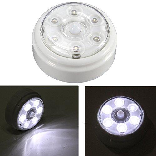 U – Draadloze PIR infrarood bewegingssensor 6 leds, nachtlampje voor thuis, outdoor.