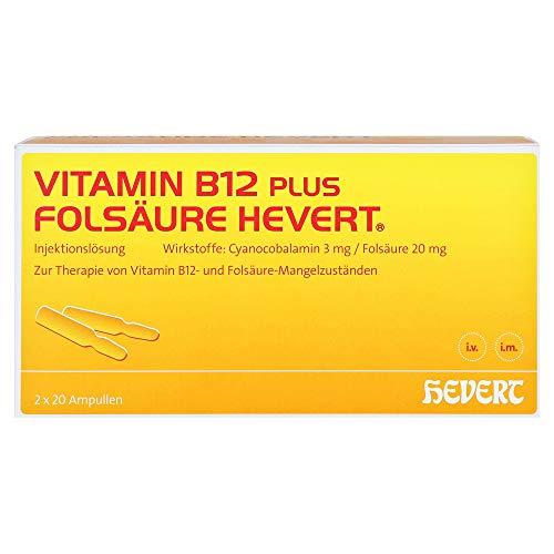 VITAMIN B12 plus Folsäure Hevert á 2 2X20 St