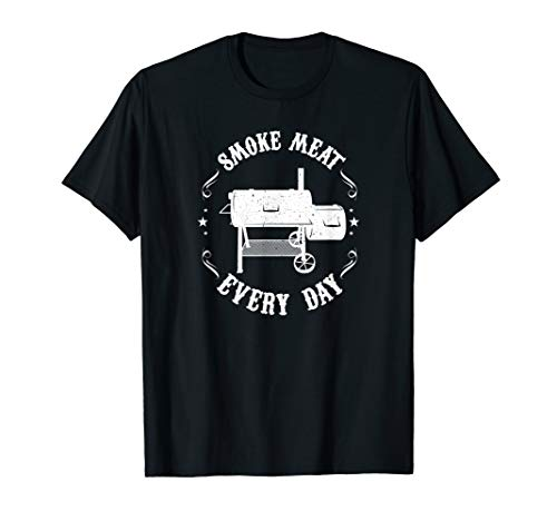 Funny BBQ Pit Reverse Flow Smoker Accessory Dad Grill Gift T-Shirt
