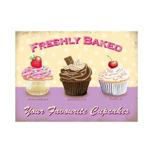 Keep Calm And Eat A Cupcake Style Vintage Métal Signe 20 cm x 15 cm Brand new