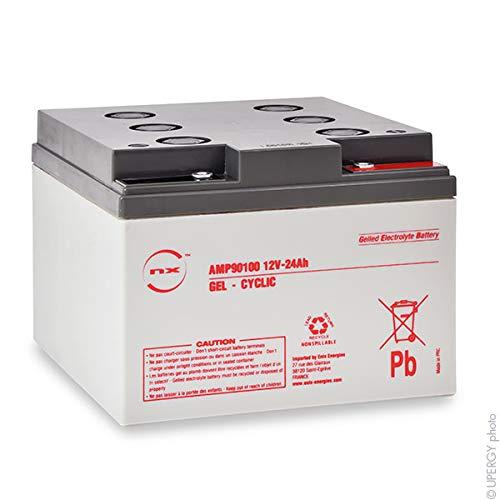 NX - Batteria GEL NX 24-12 | Uso Ciclico | 12V 24Ah M5-F
