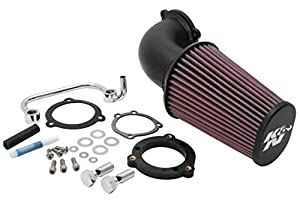 K&N Air Intake System: Air Cleaner Kit for Harley Davidson 2004-2019 Sportster XL883 XL1200 Air Cleaner Kit 63-1126