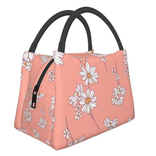 Bolsa de almuerzo portátil con aislamiento Cool (Patrón de flores (2)) 8.5L