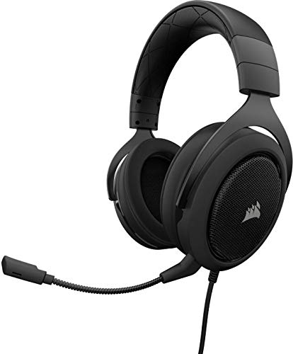 Corsair HS60 Gaming Headset 7.1 Surround (mit abnehmbaren Mikrofon, für PC/PS4/Xbox One/Switch/Mobiltelefon) schwarz