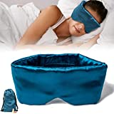 SupRikse Silk Sleep Mask Smooth Eye Mask for Insomnia, Migraine Headaches and Dry-Eye, Blindfold