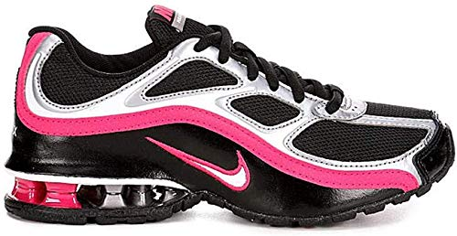 Nike Women's Reax Run 5 Running Shoes, Black/White/Mtlc Cool Grey, 8