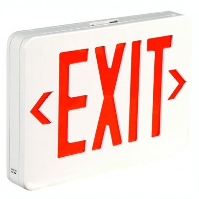 Bulk Complete LED Exit Sign w Battery Red: Back watt AM SEAL limited OFFicial shop product Co 4 up
