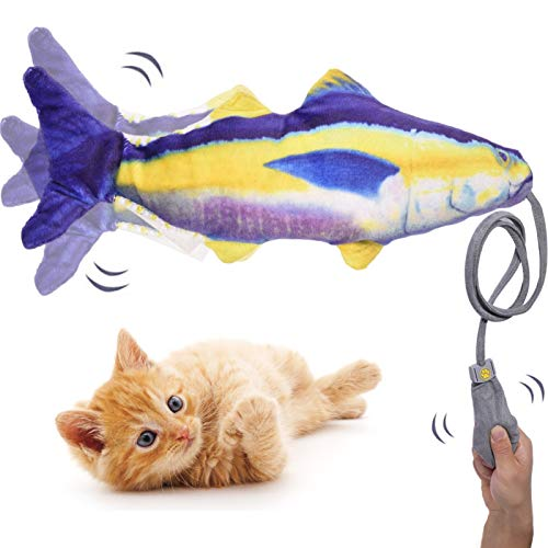 Cat Toys,Floppy Fish cat Toy,Funny Interactive Pets Pillow Chew Bite Kick Supplies Catnip Toys,Wiggle Fish Catnip Toys for Indoor Cats Pets Kitten