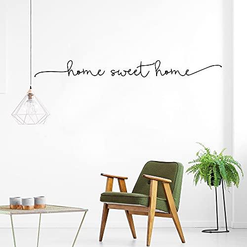 Etiqueta de la pared del vinilo del arte de la frase del hogar dulce para la decoración de la casa etiqueta de la pared etiqueta de la pared mural A4 57x5cm