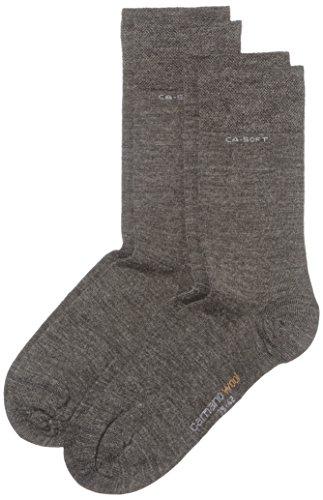 Camano Unisex - Erwachsene Socke 2 er Pack 3242, Gr. 39-42, Grau (grey 03)