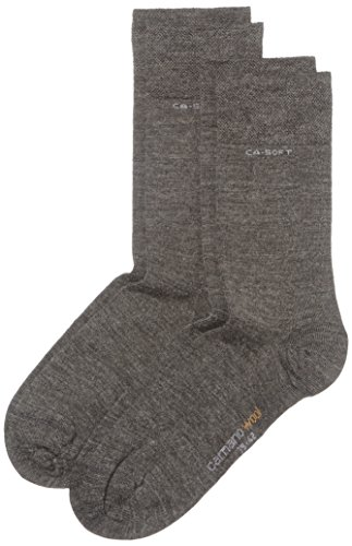 Camano Unisex - Erwachsene Socken 2-er Pack, 3242, Gr. 35-38, Grau (grey 03)