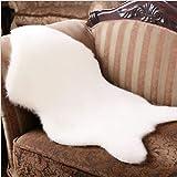 OKAYOU有用な柔らかい人工羊皮の敷物の椅子の人工的なウールの暖かい毛深いカーペット